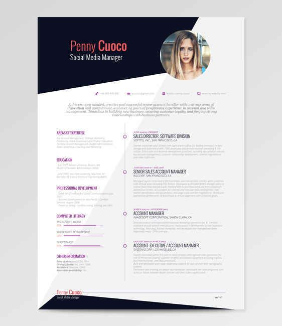 21 Free Résumé Designs Every Job Hunter Needs Graphic design - free graphic resume templates