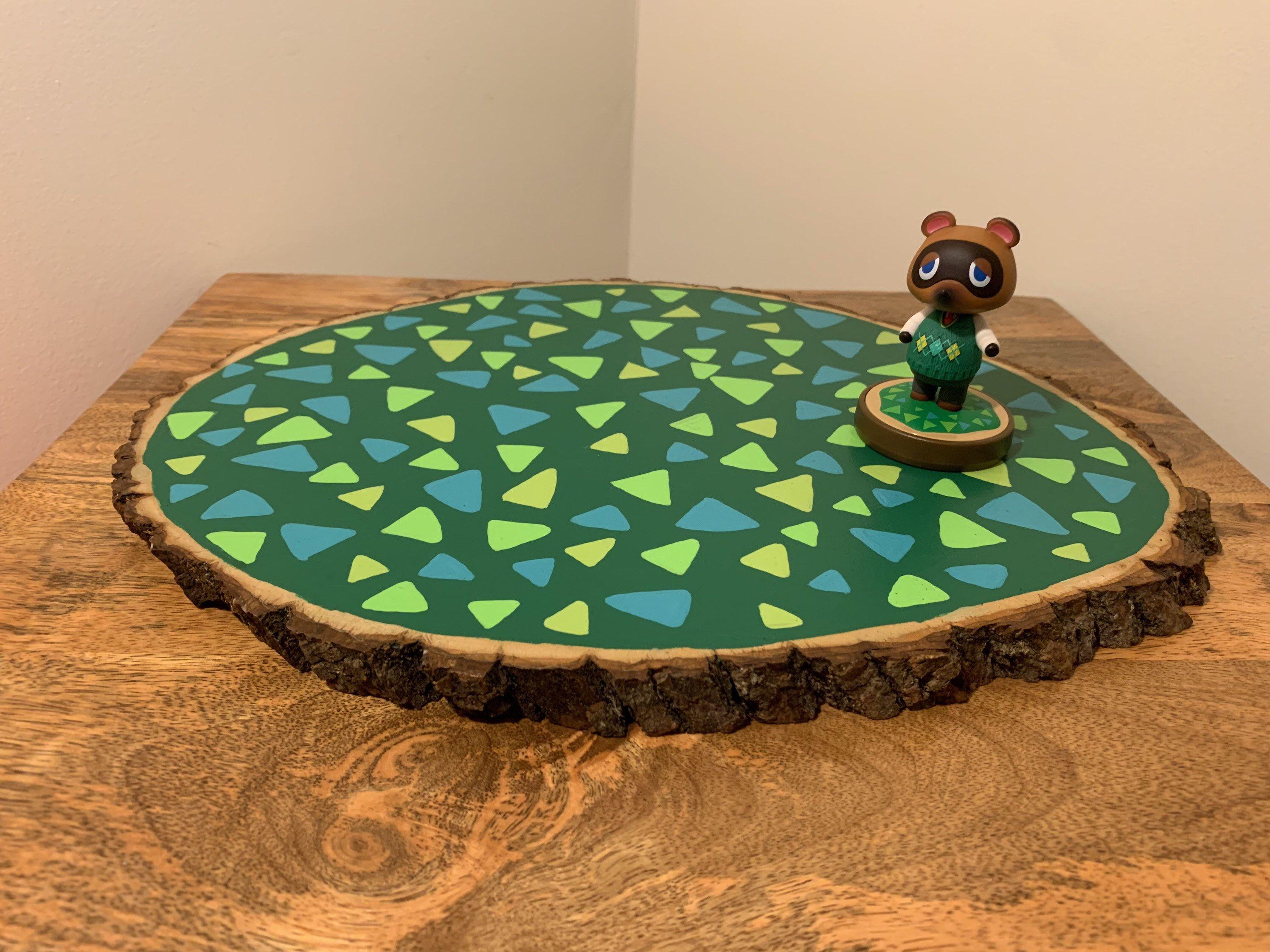 Animal Crossing Inspired Wooden Amiibo Platform Large Etsy Amiibo Display Amiibo Animal Crossing
