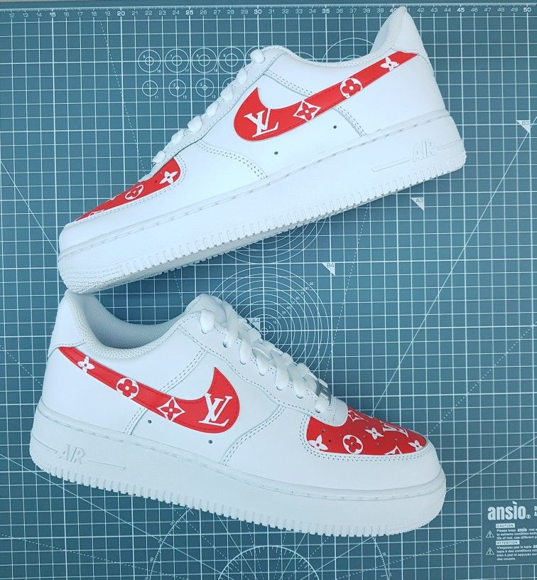 Air Force 1's Louis Vuitton (Red) ️ Buy Now on Etsy and