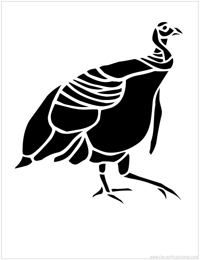 Printable Stencil Picture  Turkey Stencil  Free Printables