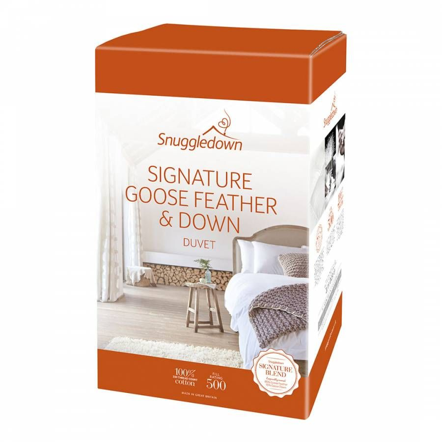 Goose Feather Down All Seasons Single 13 5 4 5 9 Tog Duvet