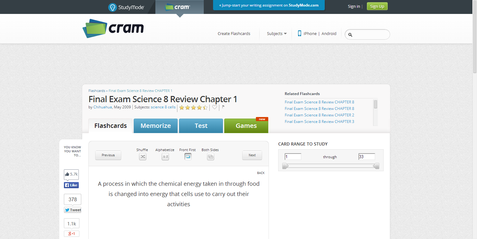 Final Exam Science 8 Review Chapter 1 Flashcards