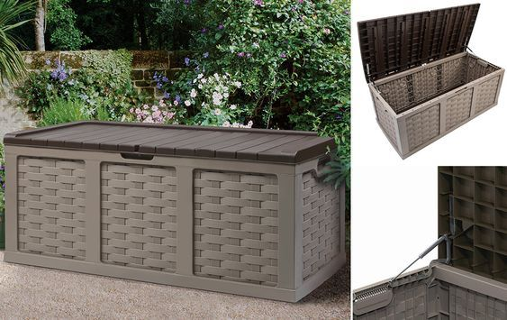 Gartenbox Kunststoff mokka 532 L #Gartenbox #Garten #Gartenmöbel - gartenmobel kunststoff design