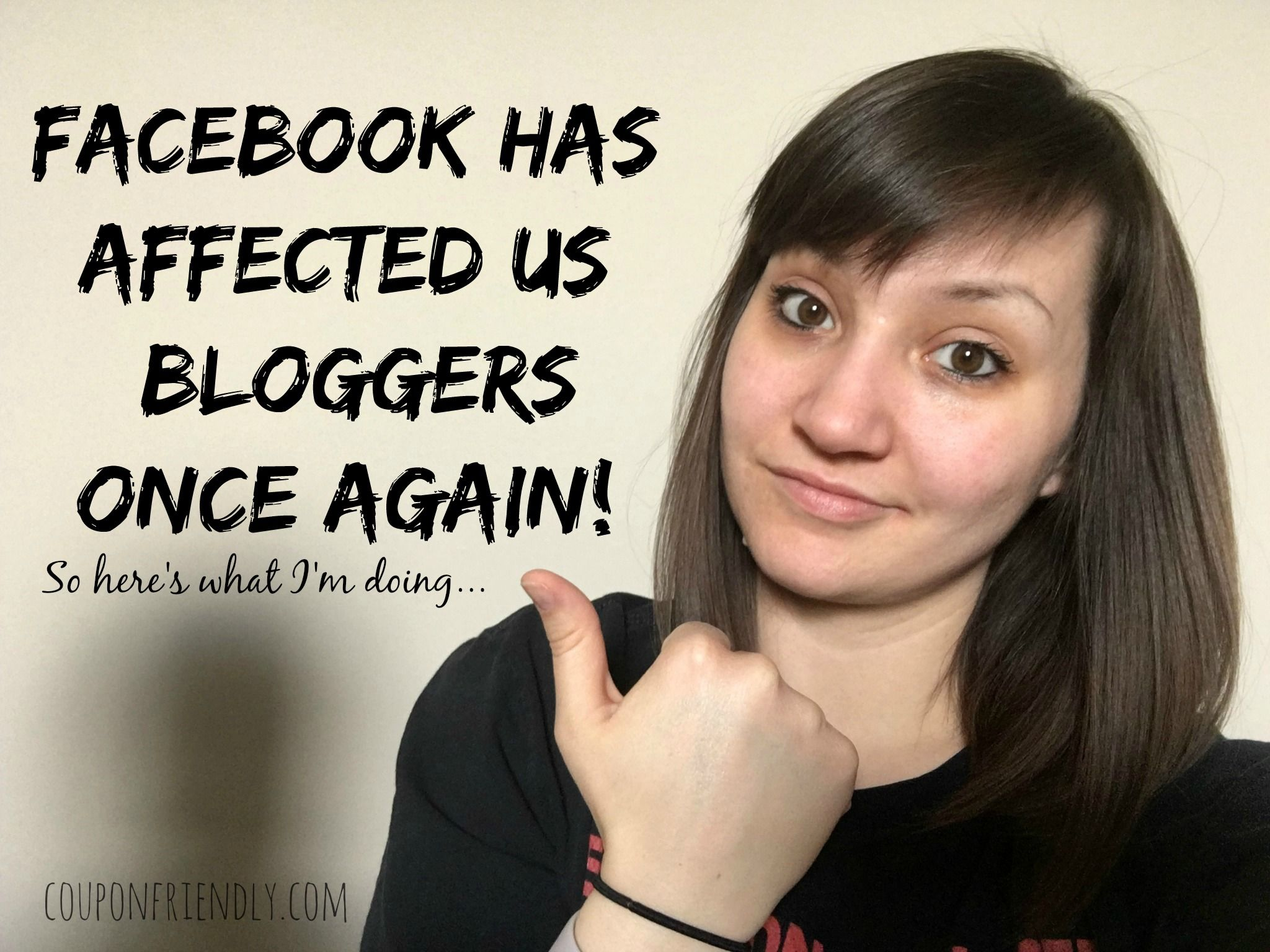 Facebook has affected us bloggers once again! So here's what I'm doing…