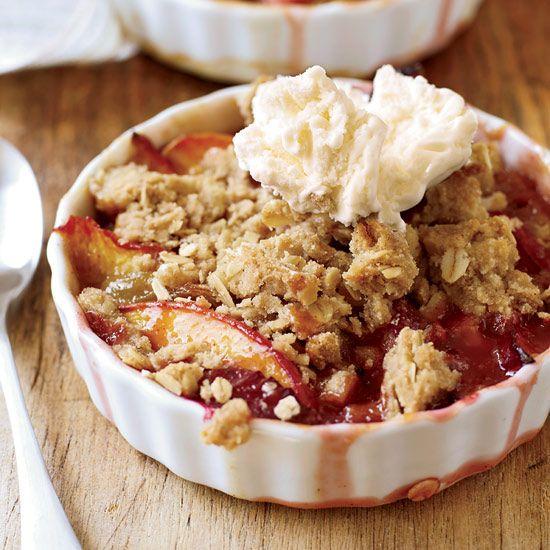 Nectarine-and-Plum Crisp with Oatmeal Streusel // More Fabulous Fruit Desserts: http://www.foodandwine.com/slideshows/fruit-desserts