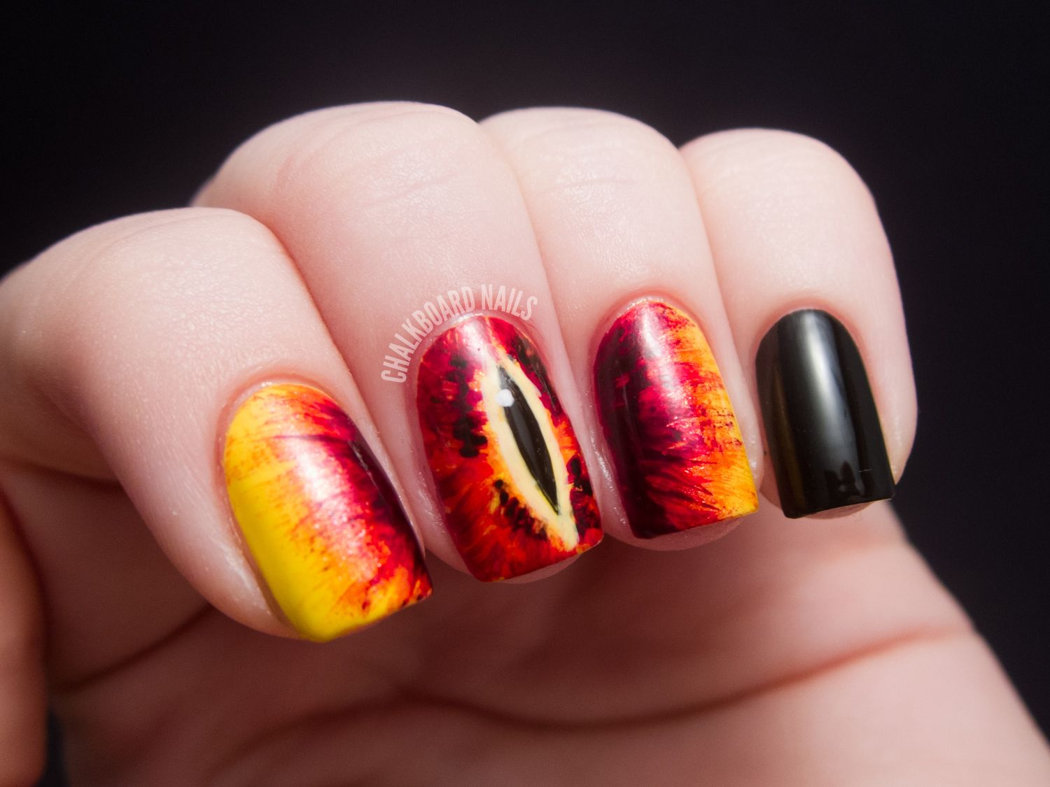 Lord of the Rings Eye of Sauron Nails!! Epic! | Nails | Pinterest ...