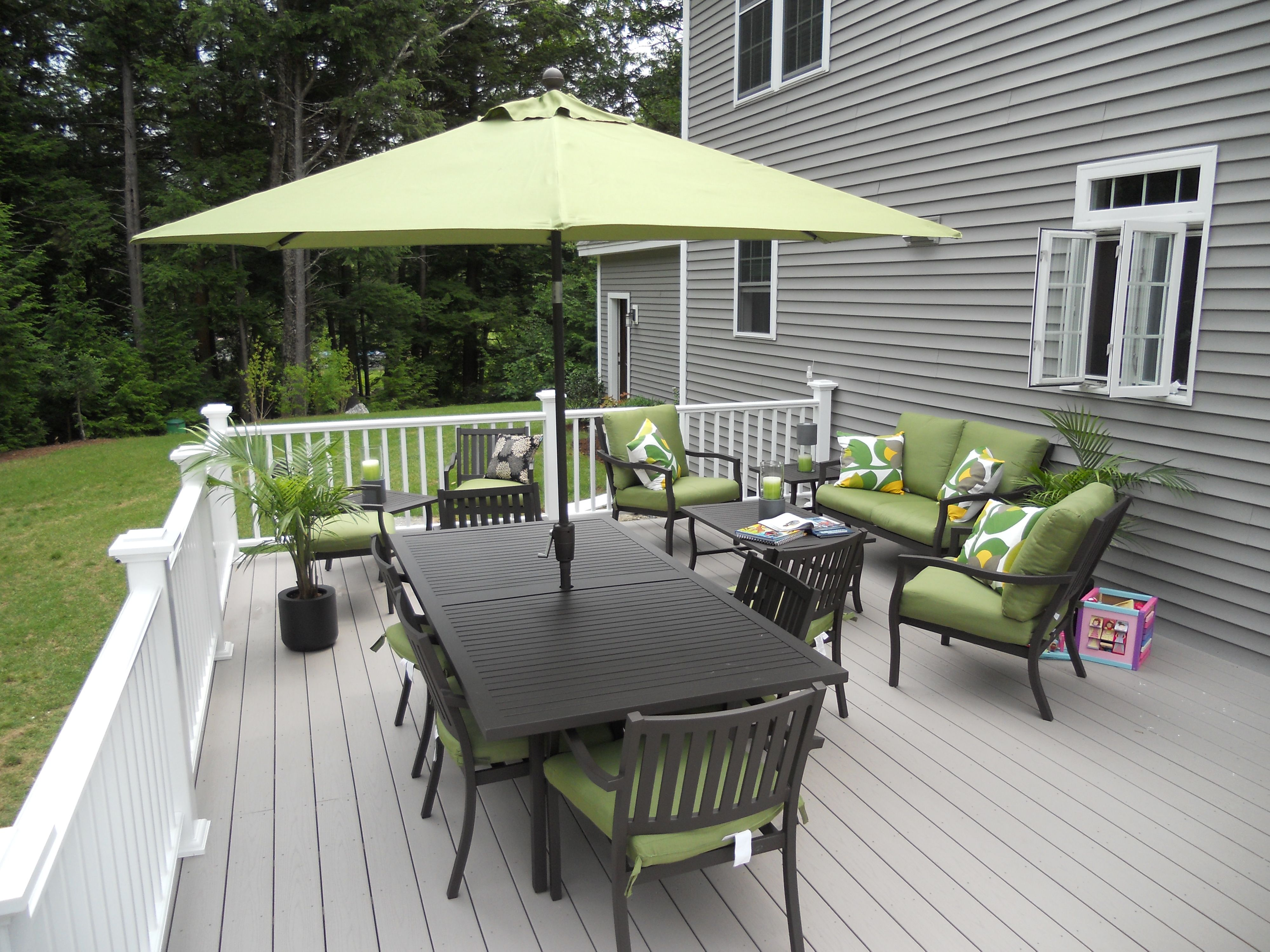 deck decorating ideas | Patio | Pinterest | Deck, White deck and ...