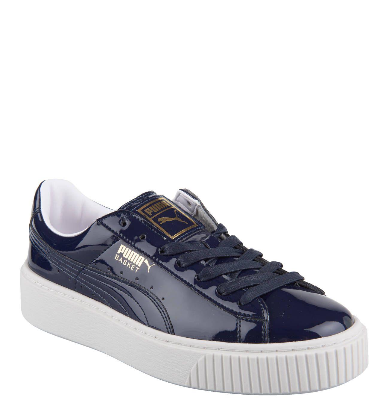 puma damen sneaker lack blau