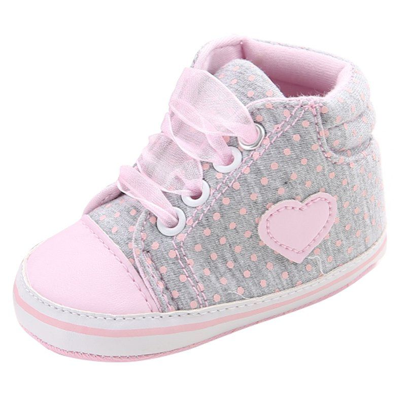 Mother & Kids Baby Girls Shoes With Bow Princess Dots Design Toddler Girl Newborn First Walker Chaussure Girls Bebe Sapatos