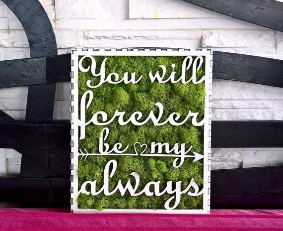 Love Forever Moss,hanging canvas, moss decoration, green design, letters,creative wall,living art,handmade,nature inside,evergreen art,laser #NatureInside #WallHanging #LoveForever #HomeDecoration #beauty #WoodDesign #LaserCut #letters #CreativeDeco #InteriorDesign