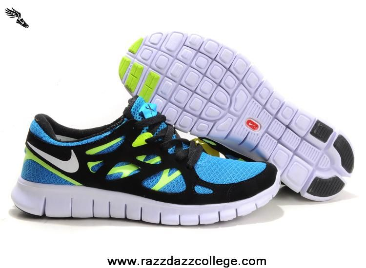 ef5bf0c1cb7 ... cheapest nike free run 2 blue glow white black volt size 12 443815 411  for sale