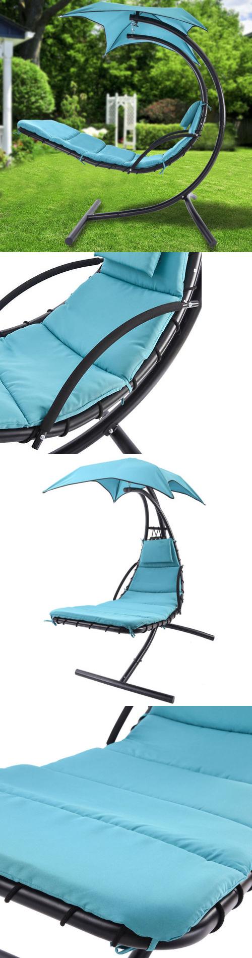 Hammocks hanging chaise lounger chair arc stand air porch