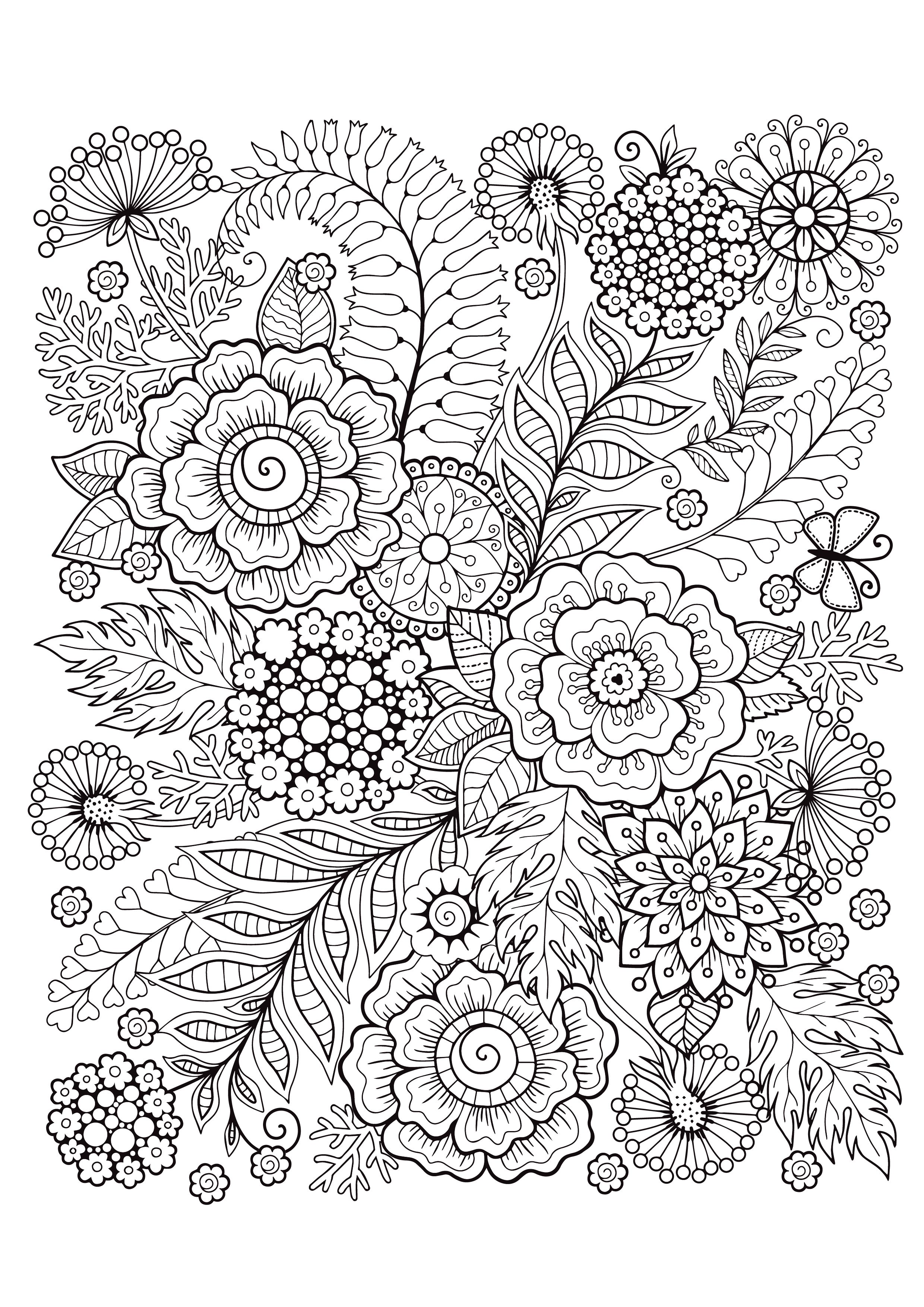 Mindfulness Coloring Pages 12 Flowers Mindfulness Colouring