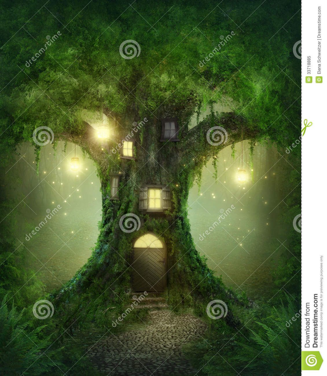 You can see the tree which this tree house castle clings to through - Fantasy Description The Wallpaper Above Is Fantasy House Tree Wallpaper In Mondi Immaginari Pinterest Fantasy Pictures Artwork And Paintings