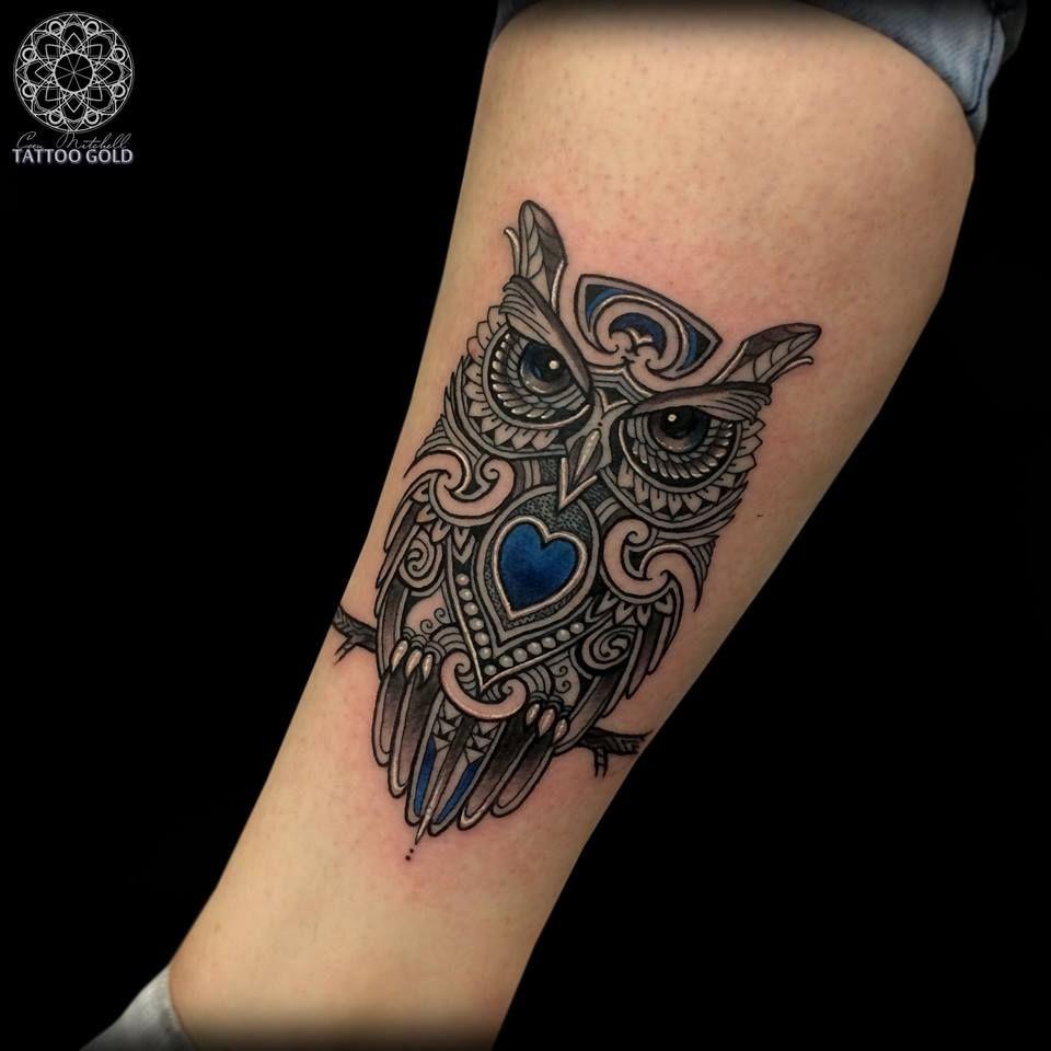 Búho By Coen Mitchell Tatoos Pinterest Tatuaje Buho Tatuajes