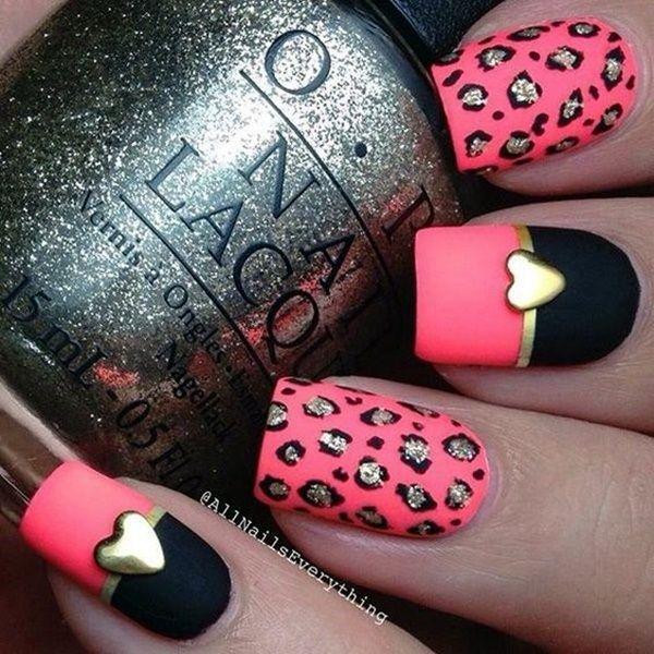 Cute Pink And Black Nails Designs 2 All Nail Pinterest Black Nails