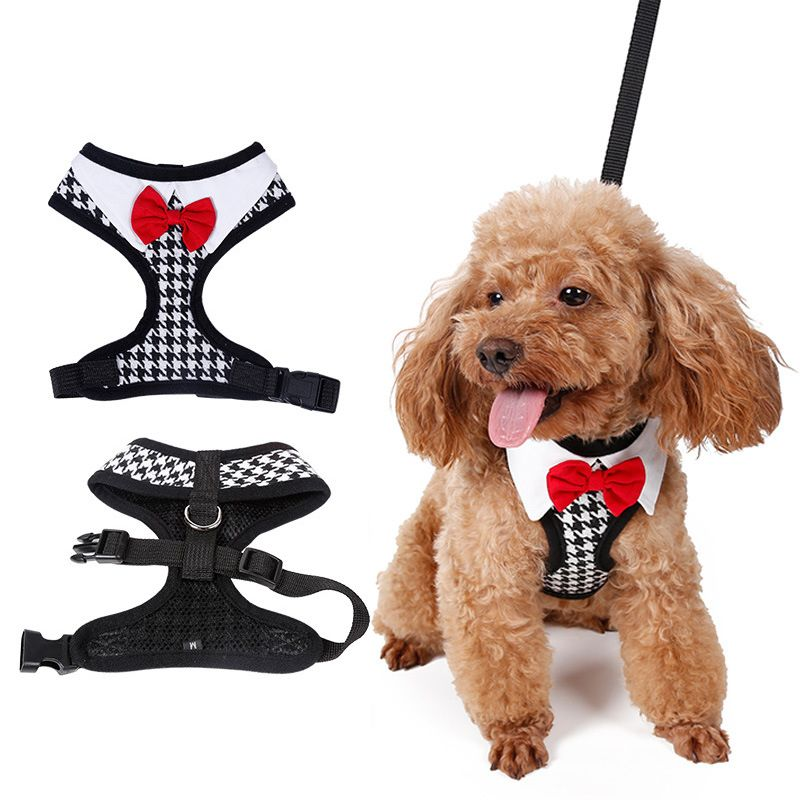 Fashion Cute Bow Tie Dog Harnesses Collar Chest Straps 5 Sizes Pet
