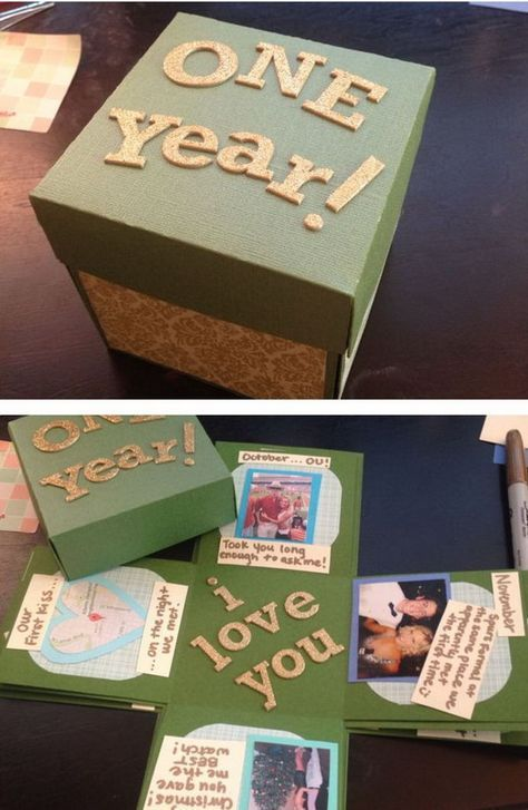 30 Diy Gifts For Boyfriend With Images Diy Gifts 1 Year