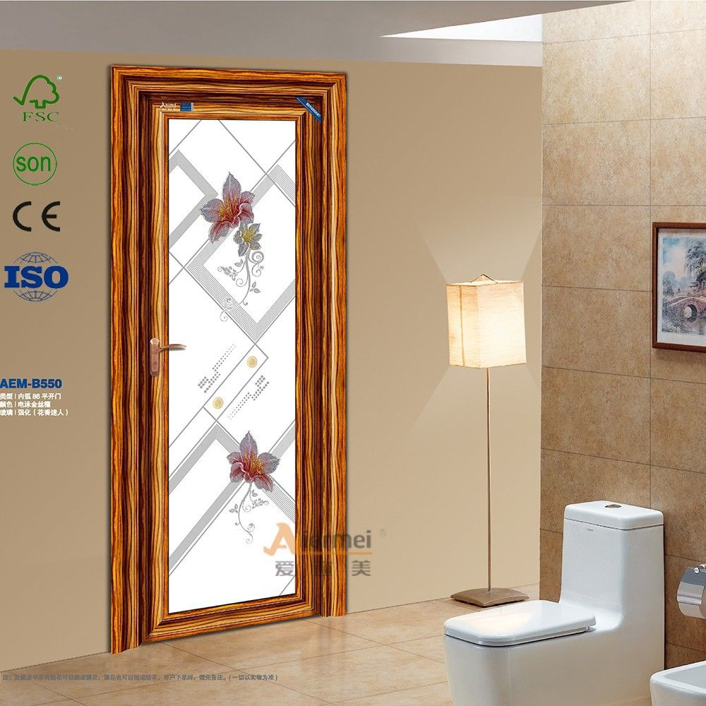 Puertas de vidrio para interiores puertas de cristal for Puertas de aluminio para bano