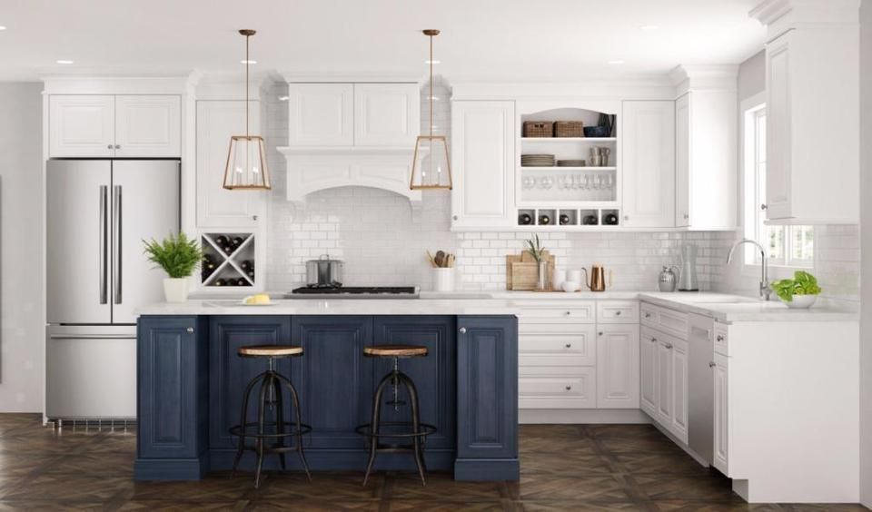 Solid Wood Kitchen Cabinets At Rock Bottom Prices Holiday Sale Cabinets Countertops M Kitchen Cabinet Styles House Design Kitchen Blue Kitchen Cabinets