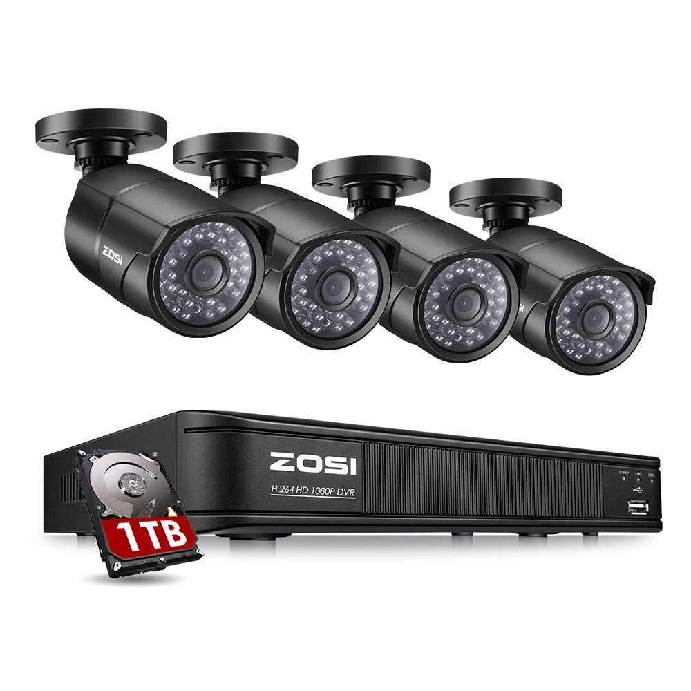 Zosi 1080p Poe Home Security Camera System 8 Channel Nvr Recorder 1tb Hard Driv Home Security Camera Systems Security Cameras For Home Security Camera System