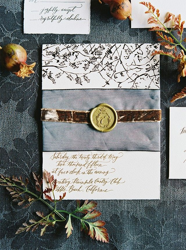 Elegant Old World Wedding Invitations Lavender And Mint With Signore E Mare Calligraphy Oh So Beautiful Paper Photo By Erich Mcvey