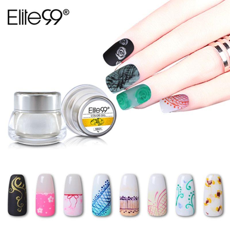 Elite99 12 Colors Acrylic Paint Gel 3d Nail Art Paint Color Gel