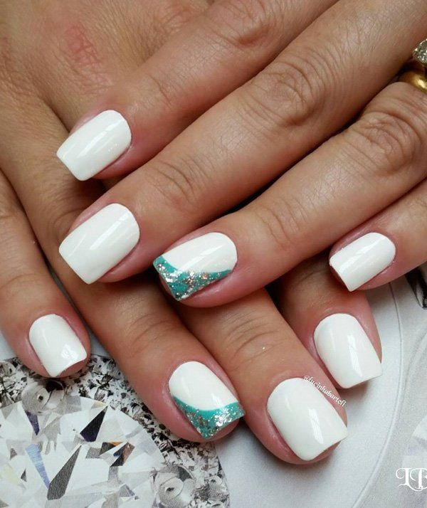 50 white nail art ideas white nails white nail art and wedding 50 white nail art ideas prinsesfo Image collections
