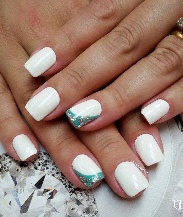 50 white nail art ideas white nails white nail art and wedding 50 white nail art ideas prinsesfo Images