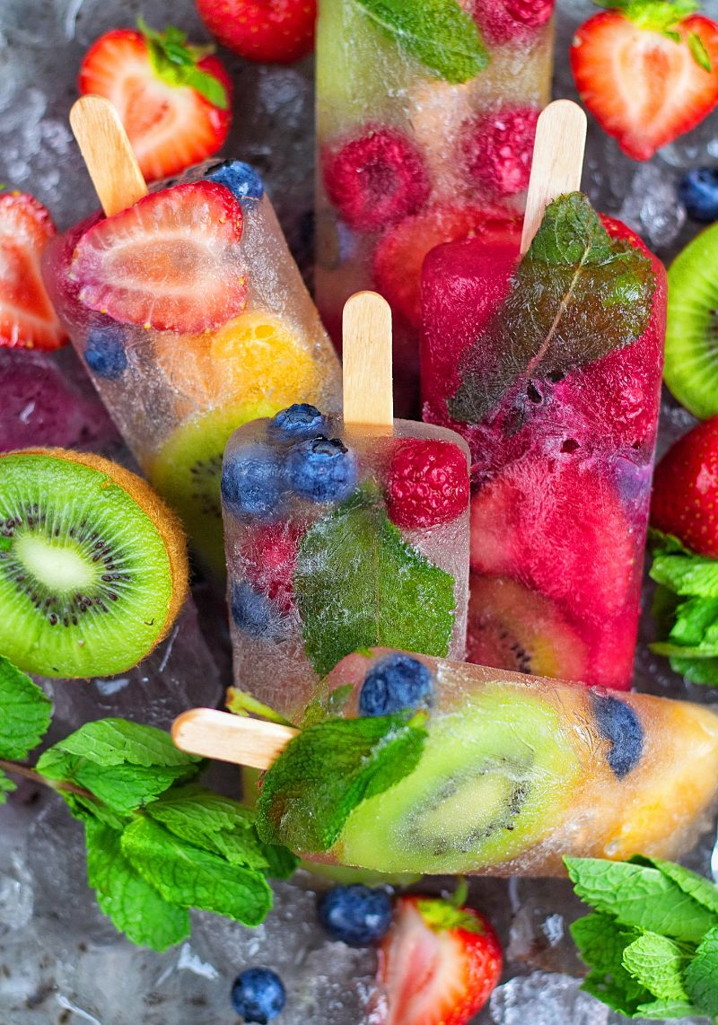 Hydrating coconut water ice lollies coconut water