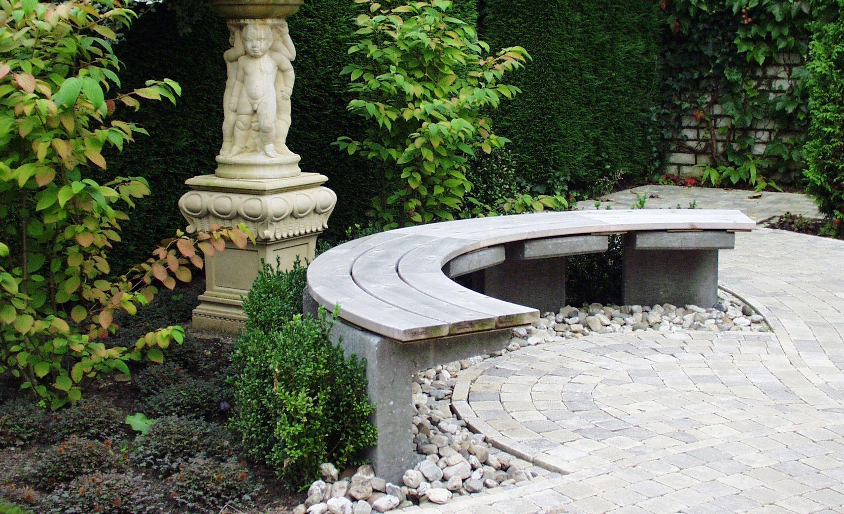 Halbrunde Gartenbank Selbst De Feuerstelle Garten Garten Diy Gartenmobel