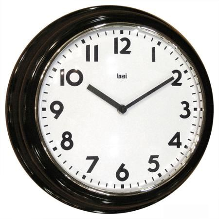 Bai Retro Modern 12 Round Wall Clock Black Walmart Com Round Wall Clocks Wall Clock Clock Decor