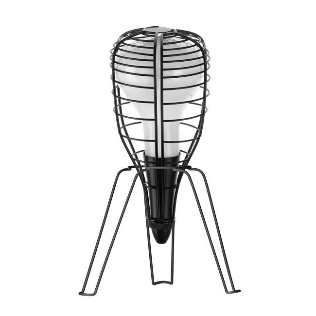 Black cage lamp, Bodie & Fou