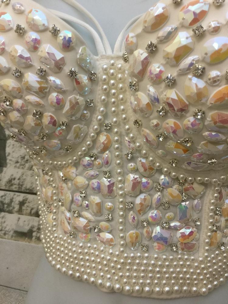 4ad65a896 Mermaid Crystal Rhinestone Bustier Corset in 2019