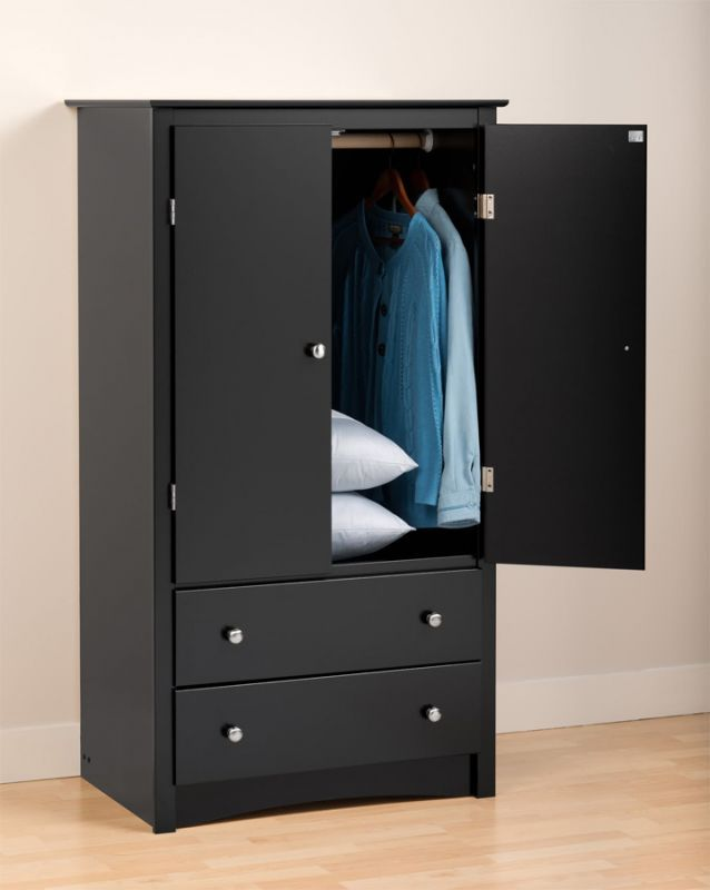 Bon Black Armoire Bedroom Furniture