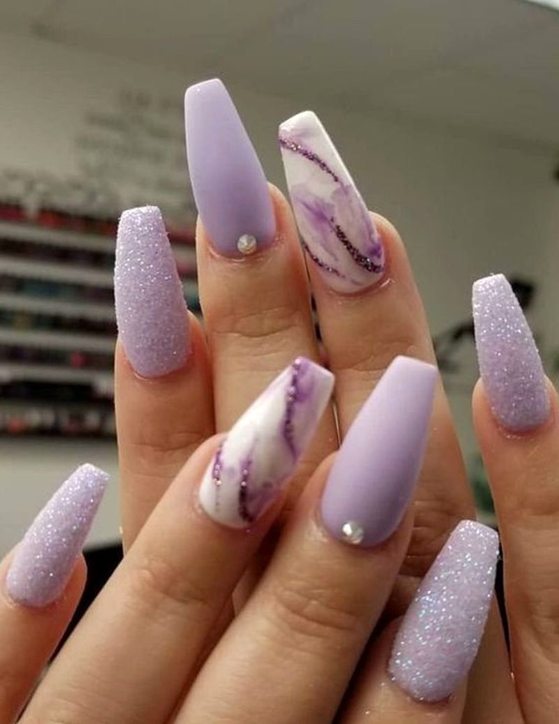 78 Pretty Acrylic Coffin Nails Design You Need To Try 14 - Best Inspir