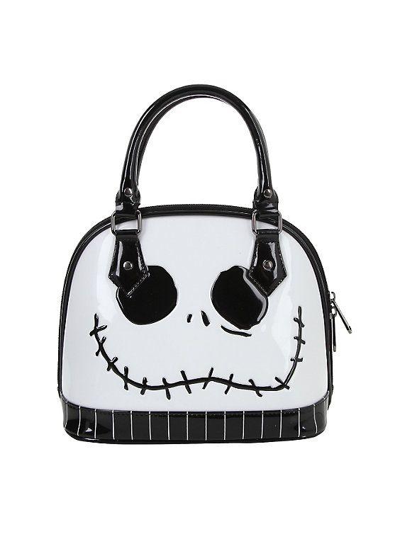 a62140a7185 The Nightmare Before Christmas Jack Skellington Face Mini Dome Handbag