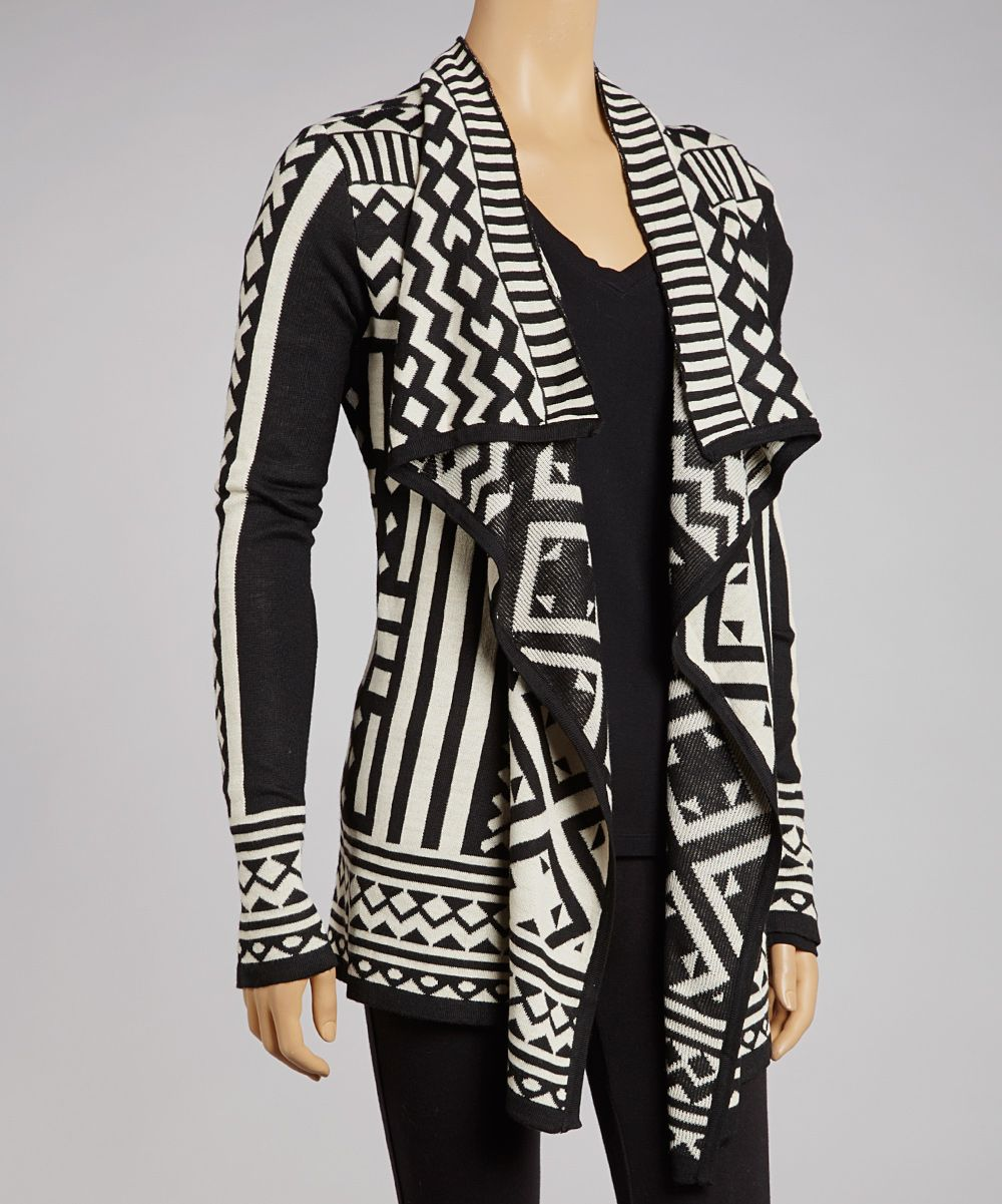 Black & White Tribal Open Cardigan - Women | zulily | MY STYLE ...
