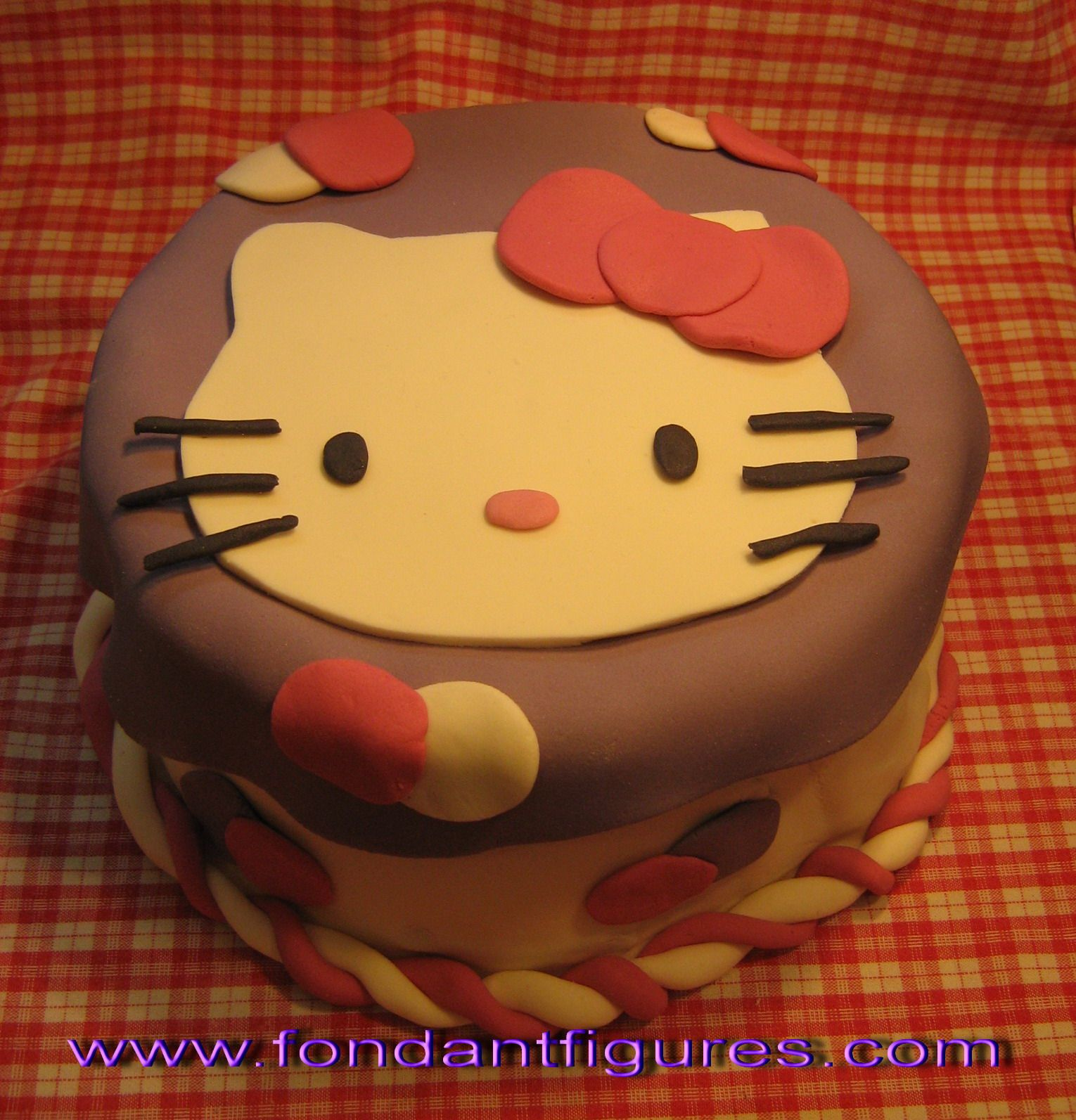 Fondant Hello Kitty Cake