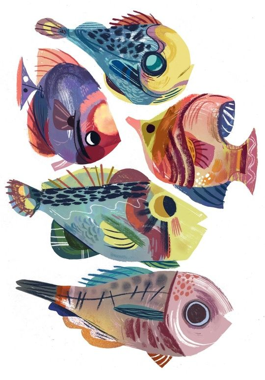 Fish Fantasy 1 An Art Print By Meg Hunt Dessin Anime Japonais
