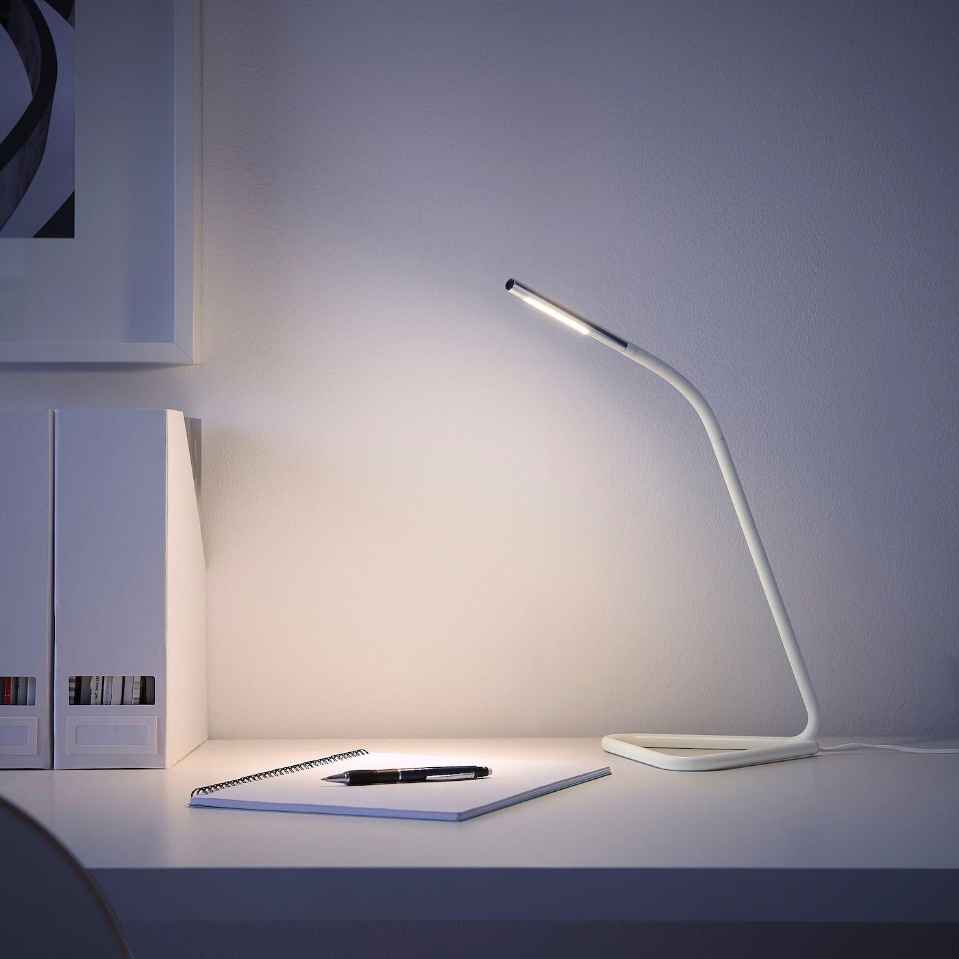 HÅRTE LED work lamp whitesilver color IKEA in 2020