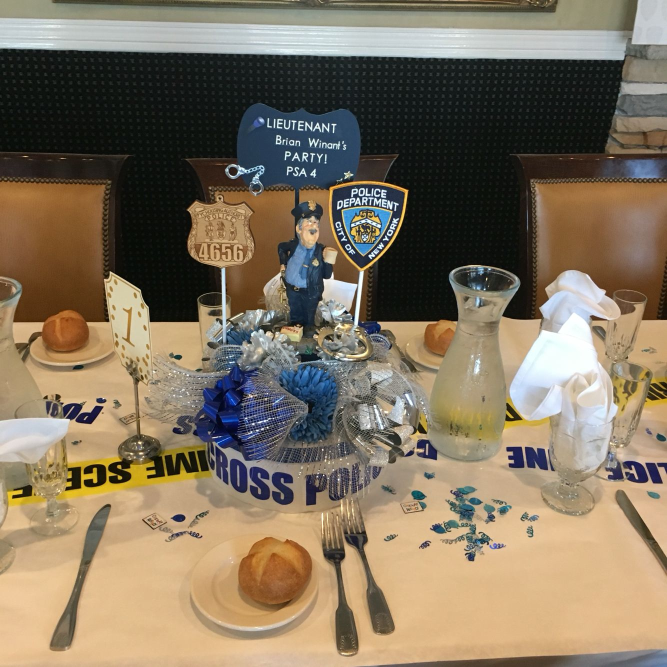 Party Decorations Table Centerpieces: Pin By Yelena W On Police Retirement Party. DIY