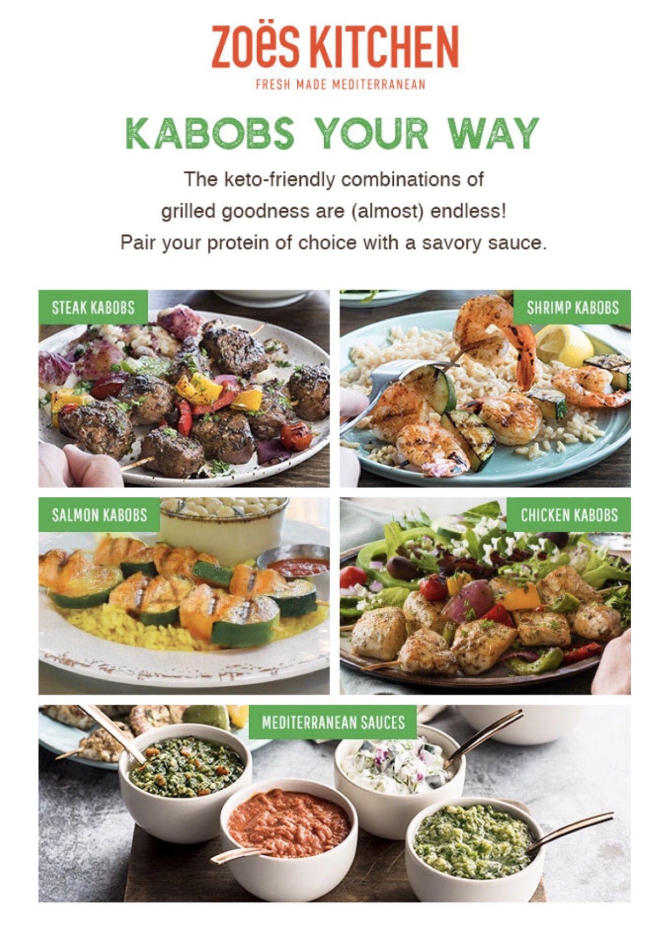 Keto Options At Zoe S Kitchen Salmon Kabobs Kabob Recipes Keto