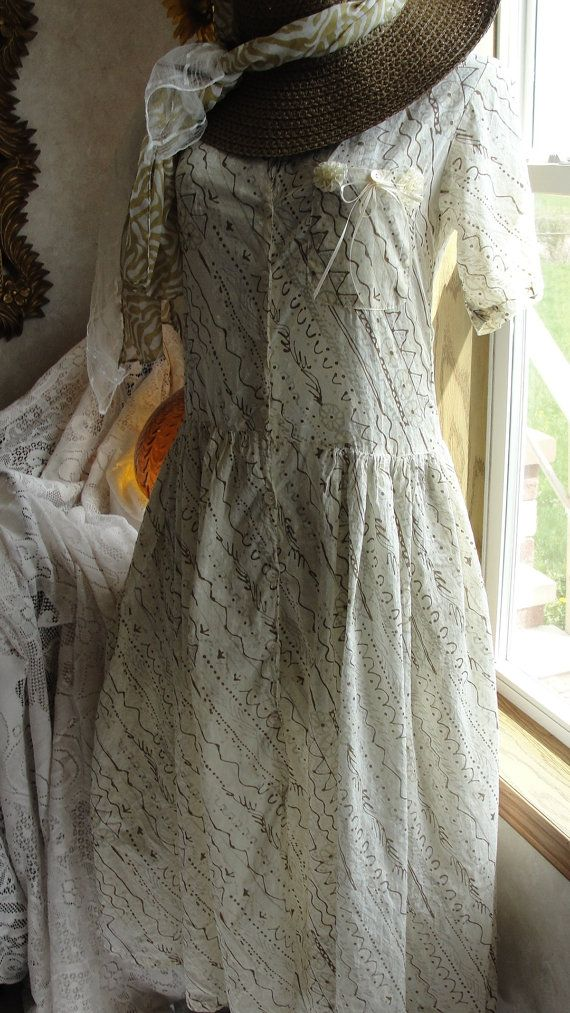 Vintage dress boho chic romantic shabby chic by SummersBreeze