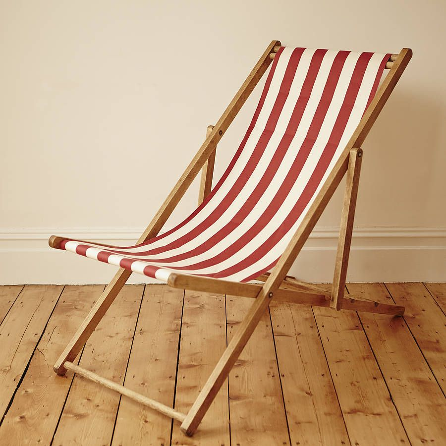 Stripy Vintage Deck Chair - Stripy Vintage Deck Chair Deck Chairs, Decking And Small Spaces