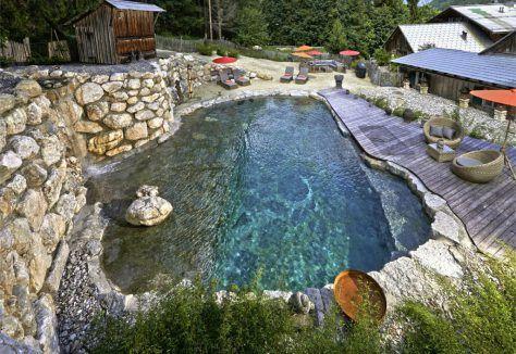 Günstiger Badespass im eigenen Garten Schwimmteich Pinterest