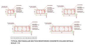 Rectangular Reinforced Concrete Column Section Details Concrete Column Reinforced Concrete Concrete