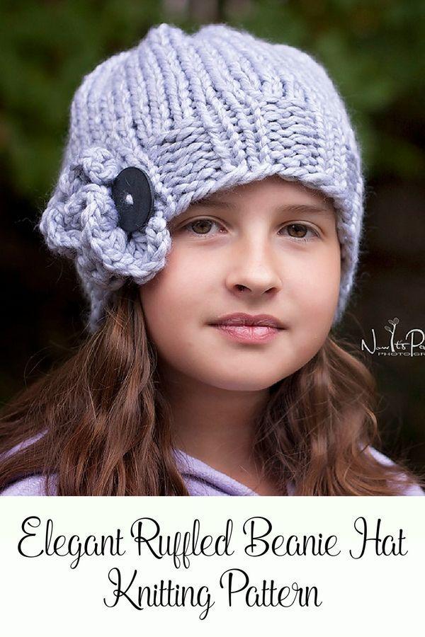 Knitting Pattern - Elegant Knit Hat Pattern | Knitted hat patterns ...