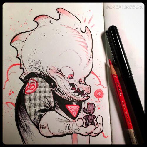 CreatureBox • Inktober Day 28: Kyle always dreamed of having his...