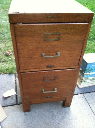 Vintage File Cabinet As A Side Table Only Twenty Bucks Omaha Ps
